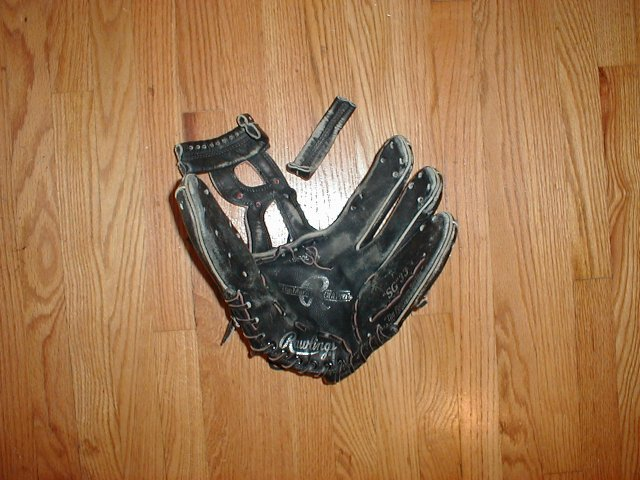 Baseball Glove Repair : Before and after pictures glove repair